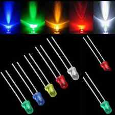100pcs 3mm LED Light Bulb Emitting Diode Lamps White Green Red Blue Yellow