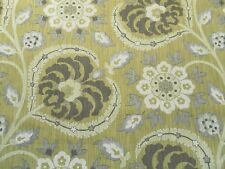 Sanderson Curtain Upholstery Fabric SAMARKAND 3.4m Lichen/Cocoa Weave Design