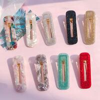 Korean Girls Acrylic Barrette Hair Clip Snap Hairpin Women Hair Accessories