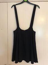 Forever 21 Pinstripe Pinafore Dungaree Dress - Size M
