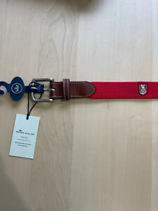 Huntingdon Valley Country Club Peter Millar Golf Belt 38 Red NEW Rare Logo