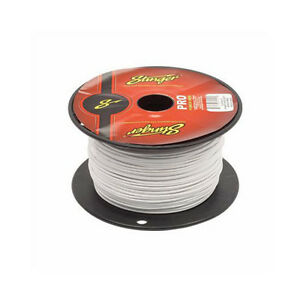 50 Foot Cut of Stinger Pro Series 18 Gauge White Remote Turn On Primary Wire