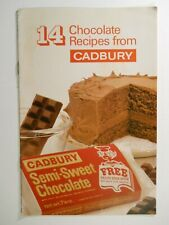 1950's CADBURY CHOCOLATE 14 RECIPE COOKBOOK England Food Advertisement Pamphlet