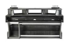 Zaor Miza X2 | Studio Workstation Desk Built-in Speaker Stands | Titanium Wenge