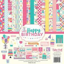 Echo Park HAPPY BIRTHDAY GIRL 12x12 Collection Kit Party Cupcake Llama Balloon