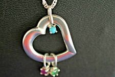 STERLING SILVER MOTHERS HEART PENDANT NECKLACE 20""