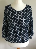 The Collection Size 12 Ladies Blue T Shirt Top With White Print