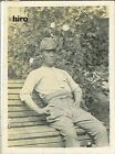 Japan Army old photo Imperial 1942 Pacific War Military Soldier bench sit