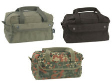 BRITISH ARMY   POLICE STYLE CANVAS TOOL BAG in BLACK GREEN FLECKTARN CAMO  SMALL 9c083485ea830