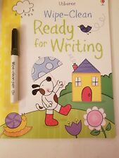 Usborne Wipe Clean Ready for Writing with eraseable pen NEW