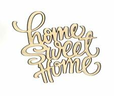Home Sweet Home Unfinished Wood Shape Cut Out H11704 Crafts Lindahl Woodcrafts
