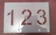 6 inch Arial Number Set Stencil 0-9 & two dashes