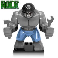 Marvel Super Heroes Incredible Grey Hulk Mini Figure Avengers Fit lego Thor
