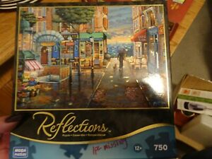 """FRANCE Reflections """"RAINY DAY STROLL"""" 750 Pc ~~FOIL ACCENTS~~ MEGA Jigsaw Puzzle"""