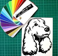 Cocker Spaniel Sticker Vinyl Decal Adhesive Wall Window Bumper Tailgate Black #2