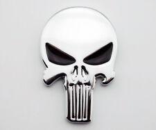 Skull Skeleton Emblem Decal Harley Honda Suzuki Yamaha Chopper Bobber Motorcycle