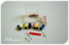 Set de couture de voyage, mini boite de couture et fournitures