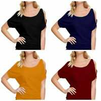 Women Long Sleeve T Shirt Blouse Loose Pullover Colorblock Tunic Tops Tee Casual