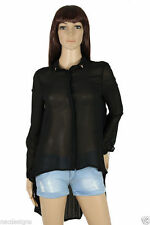 Unbranded Women's Long Sleeve Sleeve Button Down Collar Semi Fitted Tops & Shirts