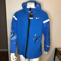Nike Running Jacket Hoodie Wild Run Windrunner Blue J5820-484 Mens Size XL