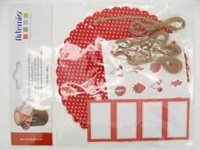 Kit 4 Décorations pour pots de confiture personnalisation rouge Artemio DIY déco