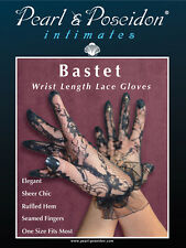 """""""Bastet"""" lace gloves are sheer wrist length gloves for the hand"""