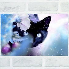 IM- Cute Cat DIY 5D Diamond Embroidery Painting Cross Stitch Home Decor Craft So