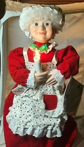 """Vintage TELCO MOTIONETTES Christmas Animated Illuminated Mrs. Claus 23"""" Tall TAG"""
