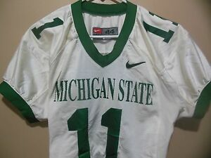 MICHIGAN STATE SPARTANS GAME USED  FOOTBALL JERSEY