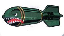 JUMBO 10 IN SHARK FACE WITH TEETH DROP BOMB JACKET BACK PATCH JBP83 new patches