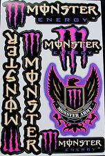 1 Sheet moped motocross Stickers atv mx Decal Energy Rockstar BMX Bike MP army