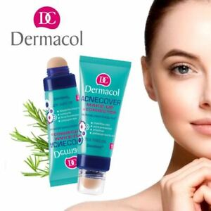DERMACOL Acnecover Make-up & Corrector Face Foundation ACNE Problematic Skin UK