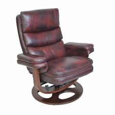 Barcalounger Bella II Pedestal Recliner in Plymouth Mahogany