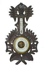 Antique Leaf Carved Barometer / Thermometer, Dutch.