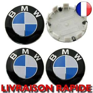 4X Centre Roue 68mm Jantes Logo BMW Voiture Cache Moyeu Insigne Clipser NEUF
