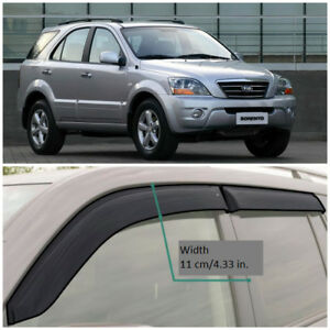 KE11102 Window Visors Guard Vent Wide Deflectors For Kia Sorento BL 2002-2009
