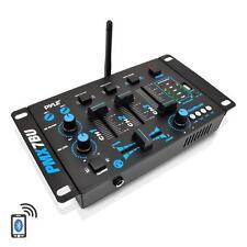 Pyle PMX7BU 3-Ch B.T.Dj MP3 Mixer W/USB Flash Reader