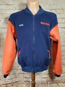 Columbia Mens NFL Chicago Bears Fleece Full Zip Jacket Size Med