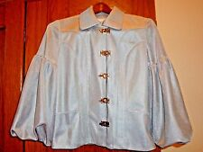 Ane V Womens Silver Mesh Jacket Roulette Wheel Puff Sleeve Size P Silver Hardwar