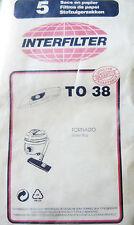 TO38 INTERFILTER 5 sacs pour aspirateur TORNADO ROLLER BOY