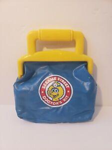 Sesame Street Doctors Kit 1993 Tyco Vintage Bag Pretend Play Big Bird Vintage