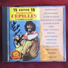15 Exitos, Cepillin El Payasito de La Tele CD, Con [Autografo Autentico!]