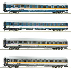 Roco 74092 4-teiliges Schnellzugwagenset ALEX, H0 Ep. VI