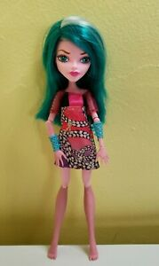 Monster High Color Me Creepy Pink Create a Monster Doll Teal Hair Wig