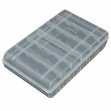 Battery Storage Box Hard Plastic Transparent Case Holder For 6pc AA or 8pc AAA
