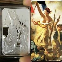 .999 Fine Silver bar Bullion / 1 Troy oz / Liberty Leading the People /  G3SB1J3