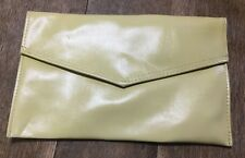 vintage yellow envelope purse clutch nice size
