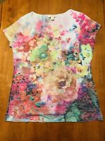 Coldwater Creek Women's Floral Shirt Size Large