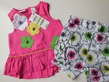 CUTE BABY GIRL TOP/DRESS + SHORTS SIZE 00 FITS 3-6m *NEW *GIFT