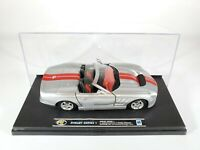 New Ray Shelby Series 1 Silver 1:32 Scale Diecast NEW in Display Case